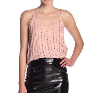 DEX Beaded Pink Cami Tank